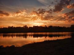 Arkansas River Sunset 2 (alnbbates) Tags: september2016 arkansasriver sunset topaz adjust