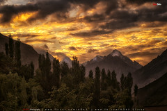 Burning Clouds (AQAS) Tags: hunza gilgit kkh mountains clouds light landscape ancient history nature colors hill river mountainside grassland indus ngc