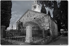 Church of St. Lawrence (oar_square) Tags: svetilovre istria croatia medievaltown graveyard cemetery 8thcentury christianchurch religiousbuilding angel statue
