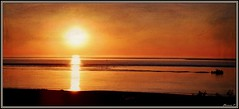 Srnit (florence.V) Tags: france poitoucharentes charentemaritime 17 roncelesbains plage lembellie soleilcouchant coucherdesoleil soleil photoshop texture magiktrollartistry imagetrolled