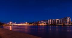 Albert Bridge (mickael_giraud) Tags: d7000 battersea bridge albertbridge london thames bluehour