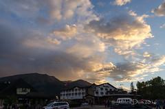 Jasper Sunset (James Dun) Tags: sunset sky clouds weather jasper alberta canada rocky mountaineer train railroad holiday thunderstorms nikond7000