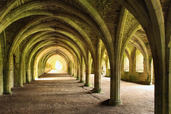 Fountains Abbey Undercroft (ir0ny) Tags: fountainsabbey nationaltrust studleyroyalwatergardens studley watergardens yorkshire cellarium undercroft arches