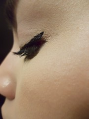 Make Up Close-up Cat Eye Winged Eyeliner Lashes Black Eye Makeup Side View (Shannon F Gorman) Tags: makeup closeup cateye wingedeyeliner lashes blackeyemakeup sideview