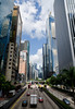 Downtown Hong Kong (andreaskoeberl) Tags: street city travel blue sky reflection tourism vertical architecture clouds skyscraper buildings hongkong nikon asia hong kong pedestrianbridge d7000 nikond7000 andreaskoeberl