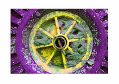 Mix (terrymorrisphotography) Tags: abstract cold celebrity green art geometric nature wheel yellow wales circle outdoors photography cool artist pattern colours photographer arty purple mud natural spokes cymru arts mixer dirt terry round british welsh colourful morris grime shape terrymorris terrymorriswelshphotographer terrymorrisphotographer terrymorrisphotography