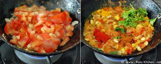 Tomato rice recipe step 2
