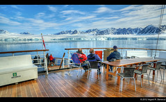 Nice place to wake up - Lilliehöökfjorden - Svalbard (vegarste) Tags: sea summer people snow ice water june norway juni table landscape norge is nikon europe chairs folk sommer norwegen tourists glacier svalbard arctic deck ms polar hdr spitsbergen bord vann breen snø hurtigruten aft isbre landskap fjorden sjø stoler hurtigruta dekk d90 turister 3xp photomatix nordstjernen arktis tonemapping 3exp akter norwegiancostalexpress lilliehöökfjorden lilliehöökbreen lilliehöök