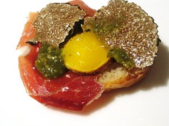 It s just ham and eggs With Pata Negra, Quail Egg