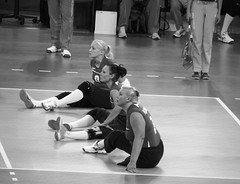 Ukraine V Holland Women's Sitting Volleyball Paralympics Excel Centre London Sept 2012 T (symonmreynolds) Tags: blackandwhite white black holland london ukraine september 2012 paralympics london2012 excelcentre womenssittingvolleyball