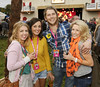 Hazel Irwin, Ellie Dunphy, Wayne Kinsella and Emma Cullinan at the Casa Bacardi Arena at Electric Picnic