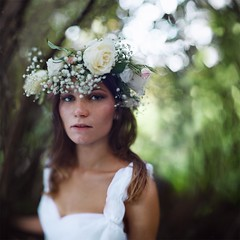 Victoria's diadem (Alexander Zaitsev) Tags: flowers light color green art girl beautiful forest canon square dof bokeh squareformat diadem conceptualcinematic alexanderzaitsev