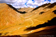 Find the tiny trucks! (A_Sarkar) Tags: shadow india mountains nature clouds landscape nikon indian kashmir himalayas ladakh d7000