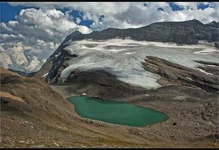 The Chaltwassersee (2756 m) And Monte Leone (3557m ) Switzerland / Italy . No, 6963.