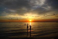 Sunset on St Kilda Beach