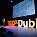 Aris Venetikidis on stage at TEDxDublin 2012