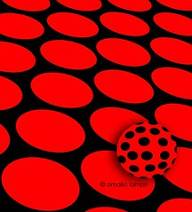 The ball (amalia lam) Tags: red black art colors ball circle rouge noir shadows arte circles negro digitalart shapes balls shades minimal simplicity minimalism simple rosso nero digitalcreation artpop creativeartop