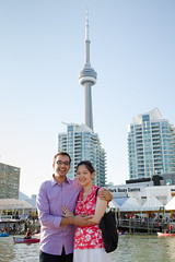 To T.O. with Love (Fesapo) Tags: family summer portrait toronto ontario canada love canon couple cntower married waterfront marriage husband spouse romance 7d wife romantic newlyweds torontoharbour torontobay