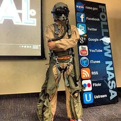 Me in a flight suit. #NASASocial