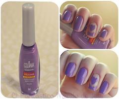Dia 06: Unhas violeta (Nail Art by Jess) Tags: art purple heart nail das 31 unhas violeta roxo lilas desafio colorama
