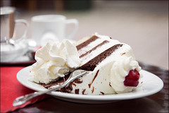 schwarzwlder kirschtorte (heavenuphere) Tags: black cake forest germany dessert deutschland foodanddrink indulgence freshness layercake baked germanfood schwarzwlder kirschtorte readytoeat traditionallygerman