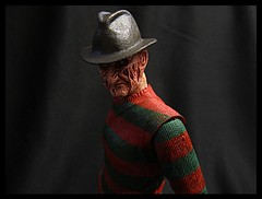 Custom Repainted NECA Dream Child Freddy Head 2 (Police-Box-Traveler) Tags: street child action 5 dream part figure nightmare custom elm freddy krueger on neca repaint a