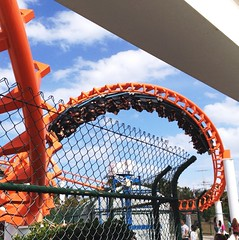 My first ride on roller coaster at Seaworld (Artlyshot) Tags: orange upsidedown fast 360 brisbane rollercoaster seaworld 4s iphone thrillride goldcoast artlyshot artlyshots