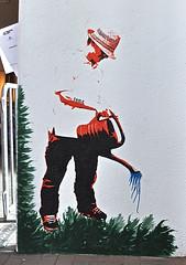 MillerntorGallerie 18 (cmdpirx) Tags: street urban colour art up painting one graffiti stencil agua sticker paint wheatpaste paste hamburg exhibition layer hh stadion fc stpauli viva con multi ausstellung pauli millerntor fcsp millerntorgallerie