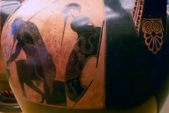 Exekias, Attic black figure amphora, detail with Ajax's shield