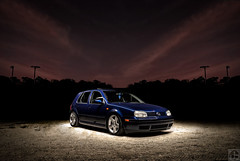 Jake's VW MK4 Golf GLS (Jeff Briggs Photography) Tags: blue light jeff car vw painting golf volkswagen photography grey nikon long exposure 33 g gray v 28 nikkor briggs 80 dub sleek lowered 56 volkswagon manfrotto stance bagged mk5 2880 d80 3356g 808rc4 3401b