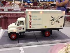 Stork Delivery Truck Cake (RDPJCakes) Tags: cake 3d 2012 fondant ossas 3dsculptedcake oklahomastatesugarartshow rdpjcakes