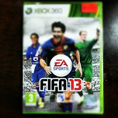 Finally I found you baby ... #fifa_13 #xbox_360 #ea #video_game (WelloJ) Tags: square lofi squareformat iphoneography instagramapp uploaded:by=instagram foursquare:venue=4ba49322f964a52031a538e3