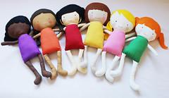 Elf Pop Dolls (Elf Pop) Tags: rainbow dolls handmade sewing plush softie multicultural ethnic ragdoll sewingpattern clothdoll elfpop