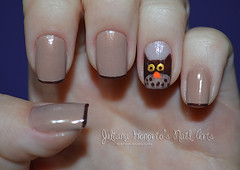 Corujinha! (Juliana Honório's Nail Arts) Tags: art nail polish owl coruja impala nailpolish risque unha esmalte glossyblossom