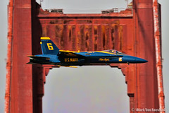 Golden Moment (mvonraesfeld) Tags: bridge blue 6 golden flying gate san francisco military flight navy angels solo week hornet f18 fleet usn 2012 img5755