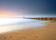 Morning Light (PeterYoung1.) Tags: ocean uk light sea england seascape beach nature canon landscape colours scenic landschaft bournemouth flickrstruereflectionlevel1