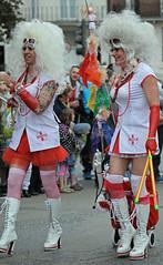 PRIDE Brighton 2012: Nurse Hustlers (pg tips2) Tags: gay two colors brighton colours pride parade lgbt views transvestite transvestites 500 trans 2012 unified brightongaypride