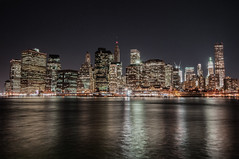 Manhattan from Brooklyn (SimonGiles) Tags: city nyc longexposure travel usa newyork reflection skyline brooklyn night america skyscraper buildings river evening twilight cityscape view harbour manhattan citylights hudson bigapple brooklynbridgepark nikond300s