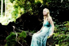 In the land of Avalon (James Phoenix Hill) Tags: wood blue flower mushroom beauty fairytale northampton warm soft natural country sookie blonde lordoftherings fairies nymph elves fae bombshell trueblood treenymphfairy