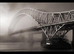 The bridge to nowhere..... (Digital Diary........) Tags: blackandwhite bw mist timeless runcorn merseyside widnes goodlight runcornbridge intonothing greatconditions