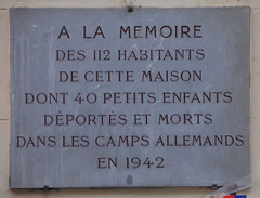 Memoire des 112 habitants - plaque, 12 rue des Deux Ponts, Paris 4 (Monceau) Tags: paris plaque children wwii german concentrationcamps deportees 4tharr 12ruedesdeuxponts openplaques:id=11665