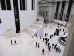 The British Museum (Fake Tilt Shift) (Chris D. Jones) Tags: uk england people london museum photoshop court toy reading model october room sony united great fake 8 shift kingdom adobe elements pointandshoot british tilt compact 2012 miniture pse8 hx20v