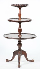 27. Mahogany Three Tiered Table