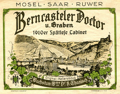 1960 - Berncasteler Doctor (Mosel) (roger4336) Tags: wine doctor mosel wein 1960 rheinlandpfalz moselle bernkastel doktor