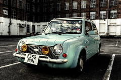 Nissan Pao (Richard Reader (luciferscage)) Tags: camera london car thames japanese nissan july retro vehicle pao jul 2012 nikond700 richardreader