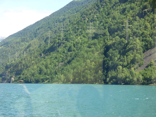 Bernina Express - Lake Poschiavo - Miralago Station