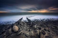 Coastal Path (albert dros) Tags: albertdros badweather beach dutch filters longexposure netherlands poles seascape storm westkapelle