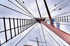 Takelage der Passat (Smo42) Tags: schiff himmel segel takelage passat travemnde flagge seil sonya58 sal1650 masten barke ausguck
