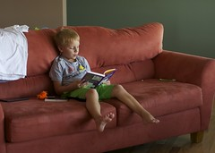 Day 217/365. Book 5. (mickifries) Tags: 365project familylife candidchildhood kids littleboys boys reading books boyhood bookworm bookworms bestofbookworms summer kidslife