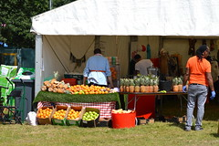 Pineapples Come From Costa Rica (dhcomet) Tags: london herne hill brockwell park lambeth country show fresh fruit pineapple orange apple carrot drink juice
